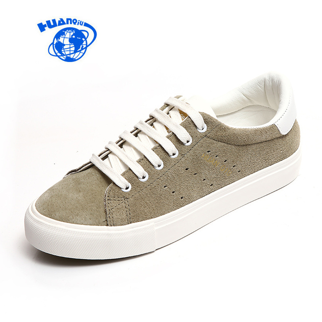 HUANQIU Women Vulcanized Shoes Artificial Leather Low Casual Shoes All Match Preppy Style 2017 New Fashion Leisure Shoes 35-39