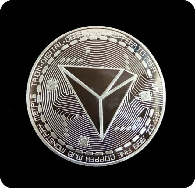New Non-currency TRX Coins Virtual Metal Commemorative Coins TRX Coins Bitcoin Commemorative Coins Gift Drop Shipping 5