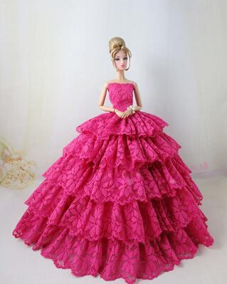a9495cdf4b2076 Для Барби вечернее платье куклы Барби платья одежды много торжественное  платье набор аксессуаров vestidos нарядное платье куклы Барби одежда купить  на ...