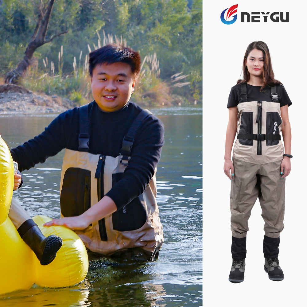 NEYGU fishing waders which is waterproof breathable with copper zipper for adults wear resistant chest waders