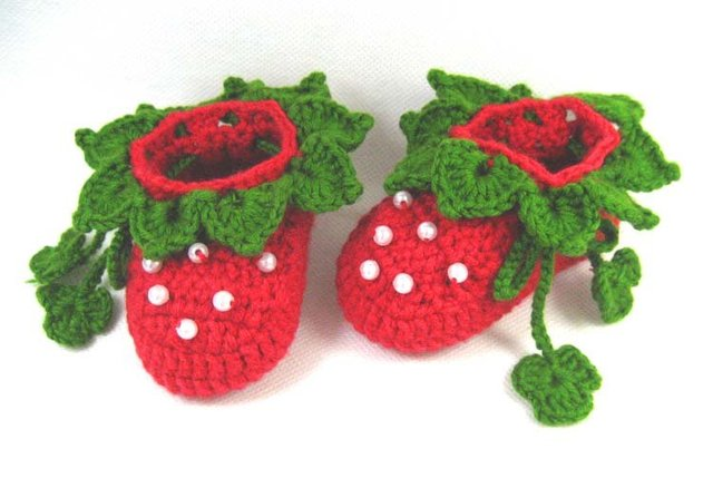 Handmade Vintage Crochet toddleBaby girl New Shoes strawberry bonnet footwear for beanie 0-12 Months xmas hot Sale