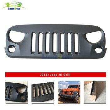 1 pc J211 Front Matte Black 2007-2017 Transformer Grille Grid Grill For Jeep Wrangler Rubicon Sahara Sport JK Lantsun
