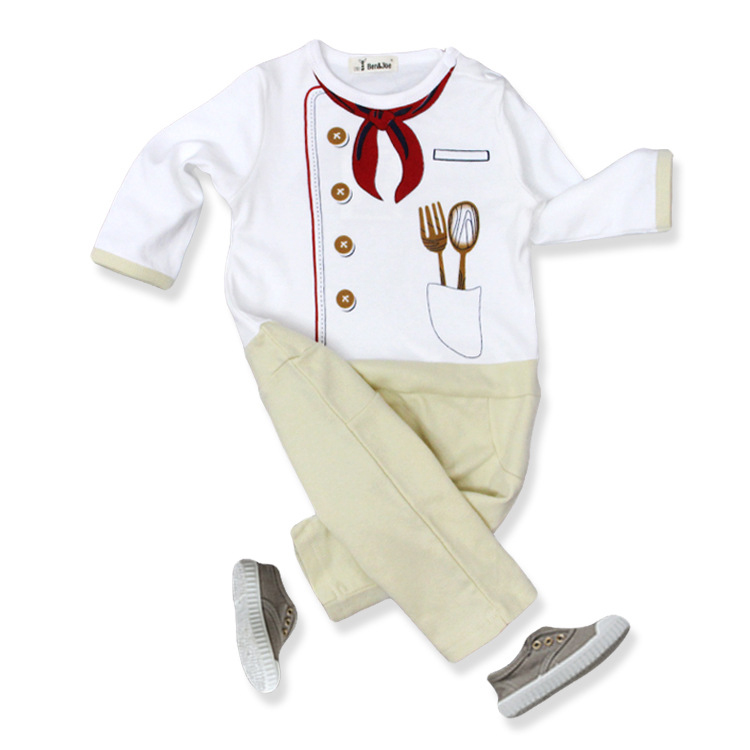 Baby Clothing Infant Rompers Clothing Cute Baby Boy Girl Chef 100% Cotton Siamese Long-sleeved Newborn Clothes newborn baby rompers baby clothing 100% cotton infant jumpsuit ropa bebe long sleeve girl boys rompers costumes baby romper