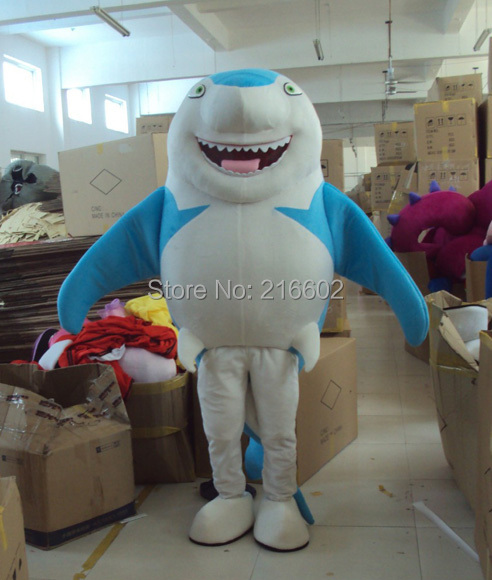 cosplay costumes Version Shark Mascot Costume for Adults Cartoon Mascot Character Costume Free Shipping