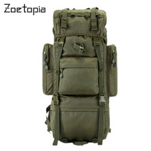 Tactical 600D Nylon de Alta Capacidad 65L Durable Lienzo Ejército Militar Mochila bolsa de Hombro Deportes Bolsa de Viaje de Excursión Que Acampa
