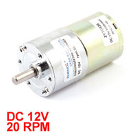 UXCELL Hot Sale 1 Pcs 12V 6 Mm Dia Shaft 2 Terminal 20Rpm Electric Gearbox DC