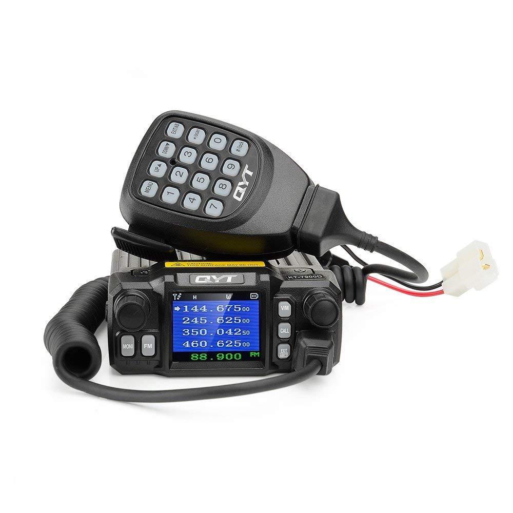 QYT KT-7900D Mini Car Mobile Radio Quad Band Quad Dsiplay VHF 25W UHF 20W Mobile Transicever KT7900D Walkie Talkie