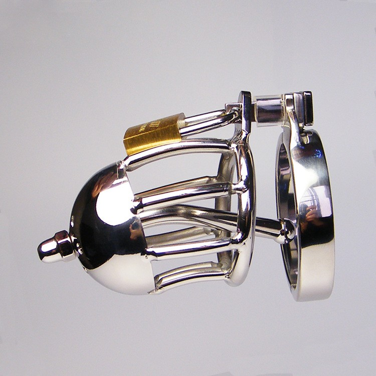 Stainless Steel Male Chastity Device With Metal Urethral Catheter Sounds,Cock Cages,Virginity Lock,Chastity Belt Sex Toy For Man stainless steel male chastity