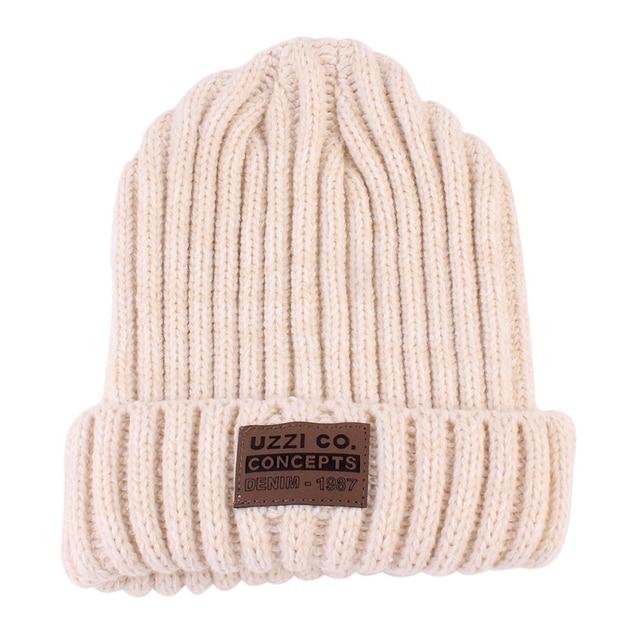1Pcs Fashion Unisex Winter Warm Hats For Women Wool Knit Crochet Hat Autumn Spring Female Men Beanie Cap Adult Ski Cap Wholesale