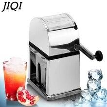 JIQI ручная дробилка для льда из нержавеющей стали, мини-бритва для льда, измельчитель, руководство по изготовлению снежного конуса, смузи, машина для ломания льда