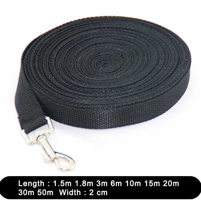 1.5 1.8 3 6 10 15 20 30 50M Solid Dog Leash For Large Dogs Pet Puppy Walking Training Lead Rope Big Dog Nylon Rope Long Leashes 1