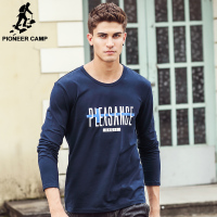 Pioneer Camp brand clothing T shirt men top quality 2017 Spring Autumn Men Long Sleeve Tshirt male Long-Sleeved T-Shirt  4