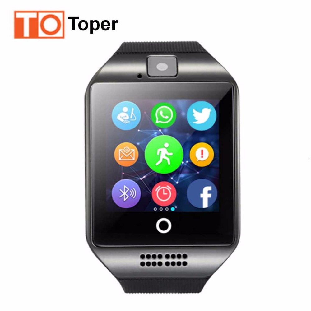 imágenes para Viscoso Q18 Electrónica Reloj Deportivo Reloj de pulsera Bluetooth Reloj Inteligente Para Android Smartphone Smartwatch para Android Acciones de Salud