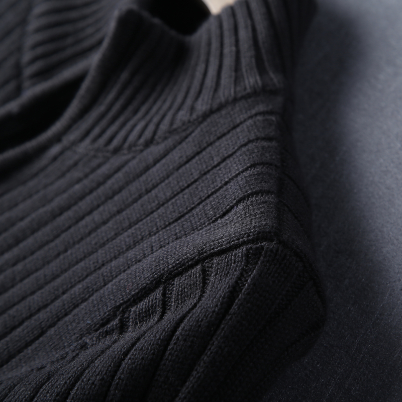 New Arrival Male Black Winter Thickened Turtleneck Warm Super Large Handsome Zipper Knitted Cardigan Sweater Coat Size M-5XL 6XL