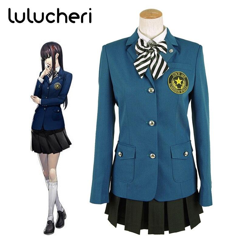 Anime Persona 5 Hifumi Togu Cosplay Costume High School Uniforms Outwear Suits for Girls Halloween Coat Shirt Skirt Full Set