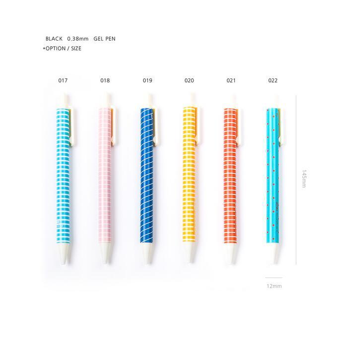 Basic design gel pen black ink 6 designs to choose Korean stationery gift menwomen size to choose black bondage