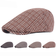 HT1967 New Autumn Winter Hats for Men Casual Vintage Beret Caps Male Wool Berets Ivy Cabbie Advanced Flat