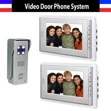 Best price New 7 Inch Lcd Door Phone Doorbell  Intercom System Night Vision Video Door Bell Waterproof  Video Doorphone Intercom 2 Monitor