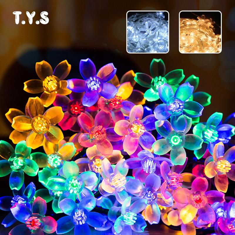LED Solar String Lights 7M 50 Leds Blossom Flower Fairy Light Christmas Light Outdoor LED Garland Patio Party Wedding DecorationLED Solar String Lights 7M 50 Leds Blossom Flower Fairy Light Christmas Light Outdoor LED Garland Patio Party Wedding Decoration