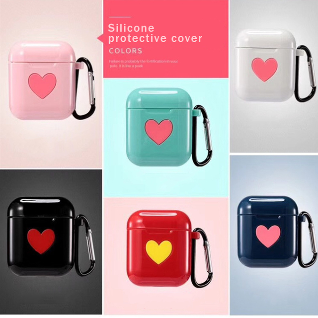 Love Heart TPU AirPod Case Cover 1
