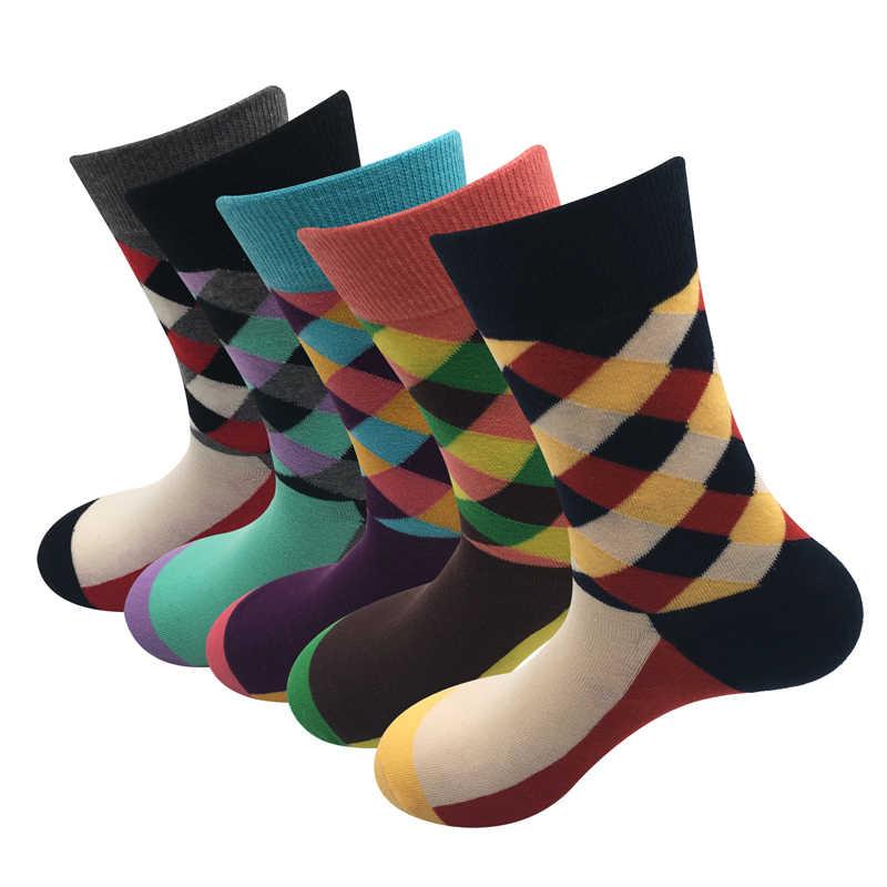 2018 Горячие стандартные новые носки мужские хлопковый в британском стиле носки, ретро цвета Harajuku уличная мода мужчины без подарочной коробки