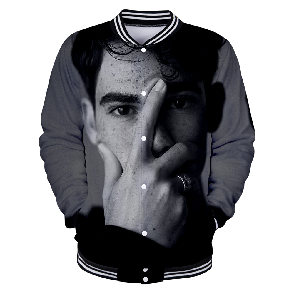 Cameron Boyce 2019 3D Printed New Casual Slim Baseball Jacket Fashion Long-sleeved Jacket Trend Casual Baseball Uniform(China)