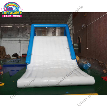 Commercial grade inflatable water slide 8x3x4m giant inflatable water slide for rental image