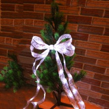 40Leds Ribbon Led String Lace Christmas tree Patry trendy Cloth Decor 4M 4 Colors for Party Gift Bow Box  Fairy night light IM