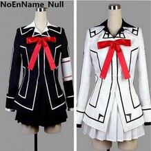 Vampire knight cosplay yuki cross blanco o negro womens dress uniform
