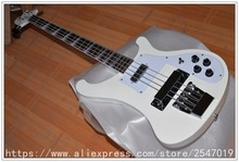 Neue bass gitarre 4 string weiße farbe mit Chrome hardware e-bass Qualität freies verschiffen