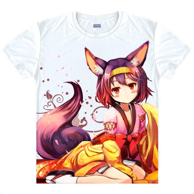 No Game No Life T-Shirt Shiro Shirt Mans summer t-shirts anime shirt Cute Girls Dress womens fashion shirt anime dress A