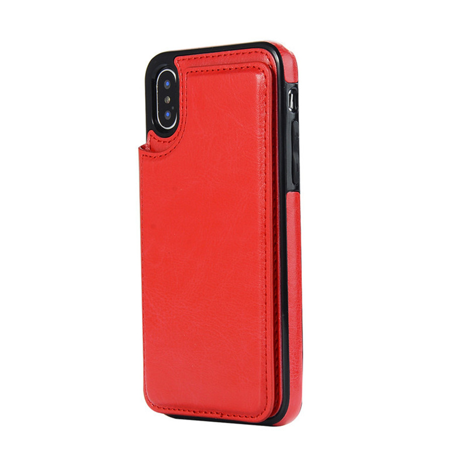HTB1U4w9SzTpK1RjSZKPq6y3UpXaW Luxury Slim Fit Premium Leather Cover For iPhone 11 Pro XR XS Max 6 6s 7 8 Plus 5S Wallet Case Card Slots Shockproof Flip Shell