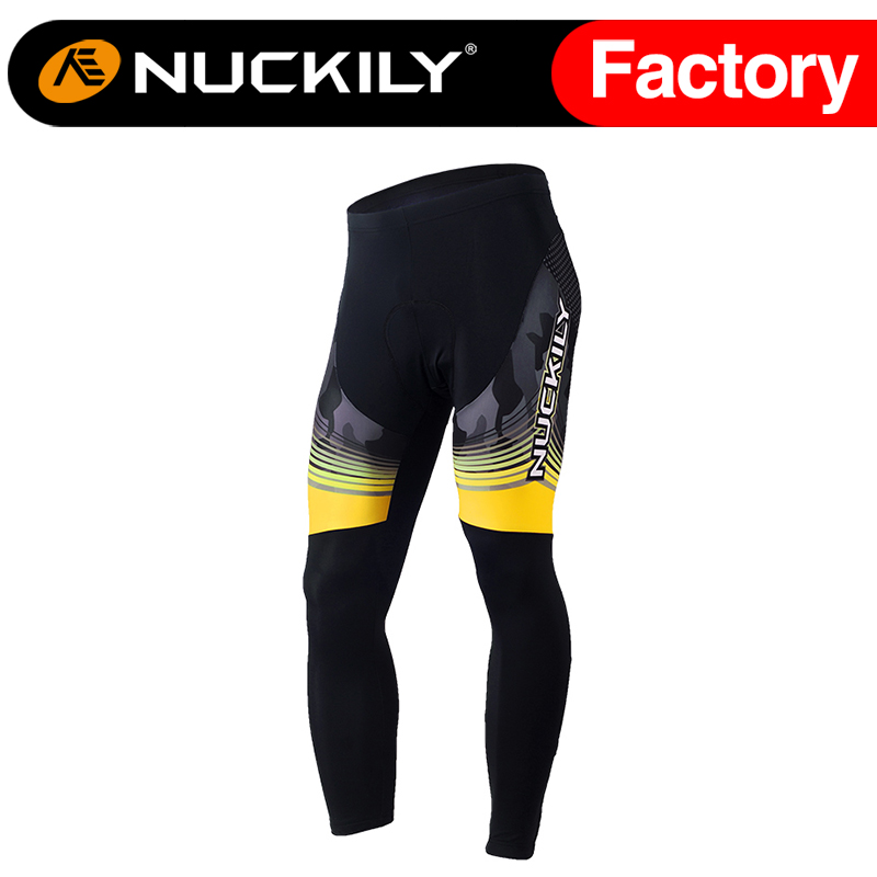 ФОТО Nuckily Winter cycle design men's padded long bicycle pant  MF016