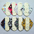 "[Sigzagor] 24 Small S Panty Liners Reusable Washable BAMBOO Menstrual Sanitary Mama Cloth Pads,Light Flow 8""/20cm 19 Designs"