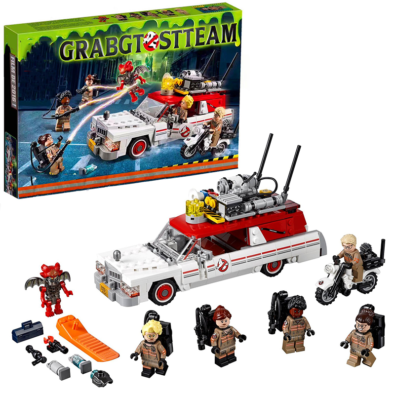 Lepin 16032 Ecto-1&2 building bricks blocks Toys for children boys Game Model Car Gift Compatible with Decool Bela 75828 lepin city creator 3 in 1 beachside vacation building blocks bricks kids model toys for children compatible with lego gift kid