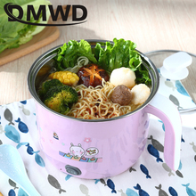 DMWD Multifunction Electric Skillet Stainless Steel Hot pot noodle Rice Cooker Steamed eggs Soup pot MINI heating pan 1.8L EU US