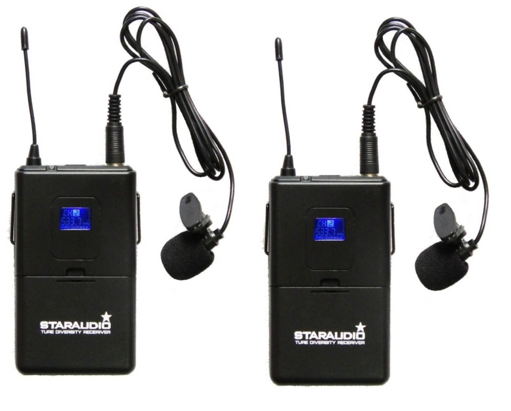 dual channel microphone system 2ch headset mic