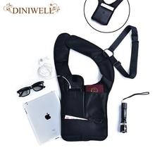 Diniwell путешествия анти-вор безопасности скрытая подмышек кобура плечо сумка спортивная сумка для хранения паспорта монета ключ pen phone pad