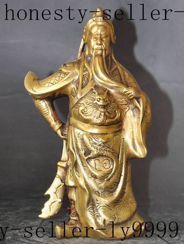 Christmas china brass animal dragon Warrior Soldier Generals guangong guanyu god statue Halloween