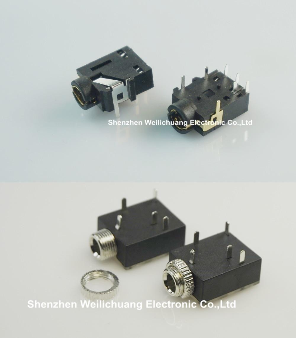 1000pcs x 2 models 1 8 trs screw phone jack 3 5mm 5 contact [ 1000 x 1140 Pixel ]
