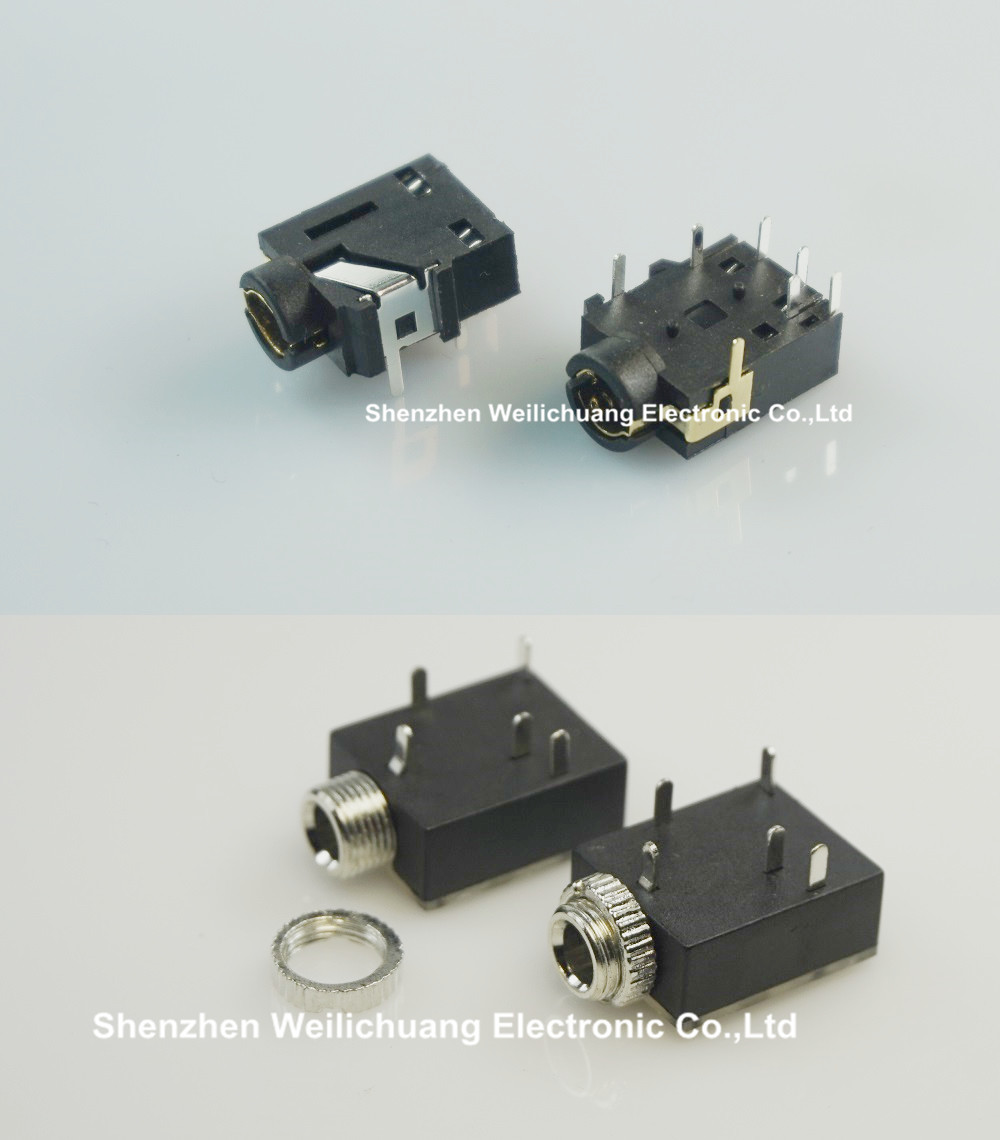 medium resolution of 1000pcs x 2 models 1 8 trs screw phone jack 3 5mm 5 contact