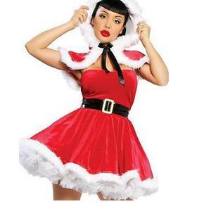 Image 2 - ユニークな2016高品質赤いセクシーなクリスマス衣装レディース包まれた胸ミニサンタドレスファッションクリスマスサンタ衣装W444047
