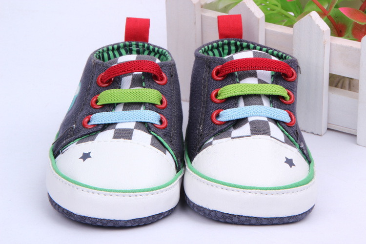 Baby Boy Girl Canvas Casual Shoes Soft Sole Sneakers Toddler Prewalkers Shoes New