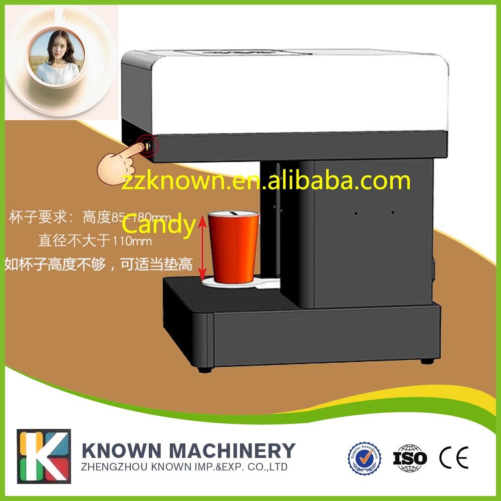 Mini cappuccino printer machine for milk foam coffee printing coffee printer food printer inkjet printer selfie coffee printer full automatic latte coffee printe wifi function
