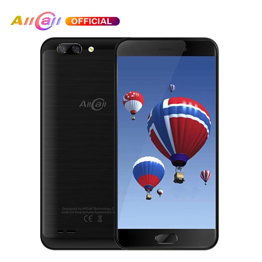 AllCall Atom Android 7.0 téléphone portable MT6737 Quad Core 2100 mAh 2 GB + 16 GB 5.2 ''Smartphone 8MP double caméra arrière 4G OTG téléphone portable