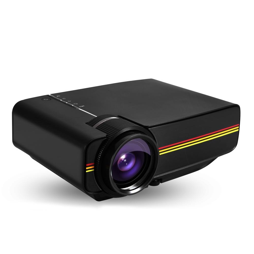 Prix pour Date YG400 Multimédia Portable Mini LED Projecteur 1000 Lumens À La Maison théâtre PC USB HDMI AV VGA SD Pour Home Cinéma projecteur
