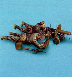 1/35 Resin Kits WWII Early 2pcs Red Army Soldier With Machine Gun 1 Set1/35 Resin Kits WWII Early 2pcs Red Army Soldier With Machine Gun 1 Set