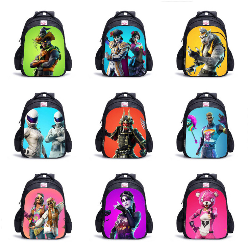 Children School Bags Boy 3D Battle Royale Fortnit Game Backpacks Fortni Cosplay Costume for Boys Girls Travel Bag Daily Backpack