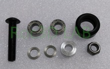 [SKU 133] High tolerance CNC mini v wheel kit for v-slot Delrin precise linear guide 20set/lot POM Free shipping