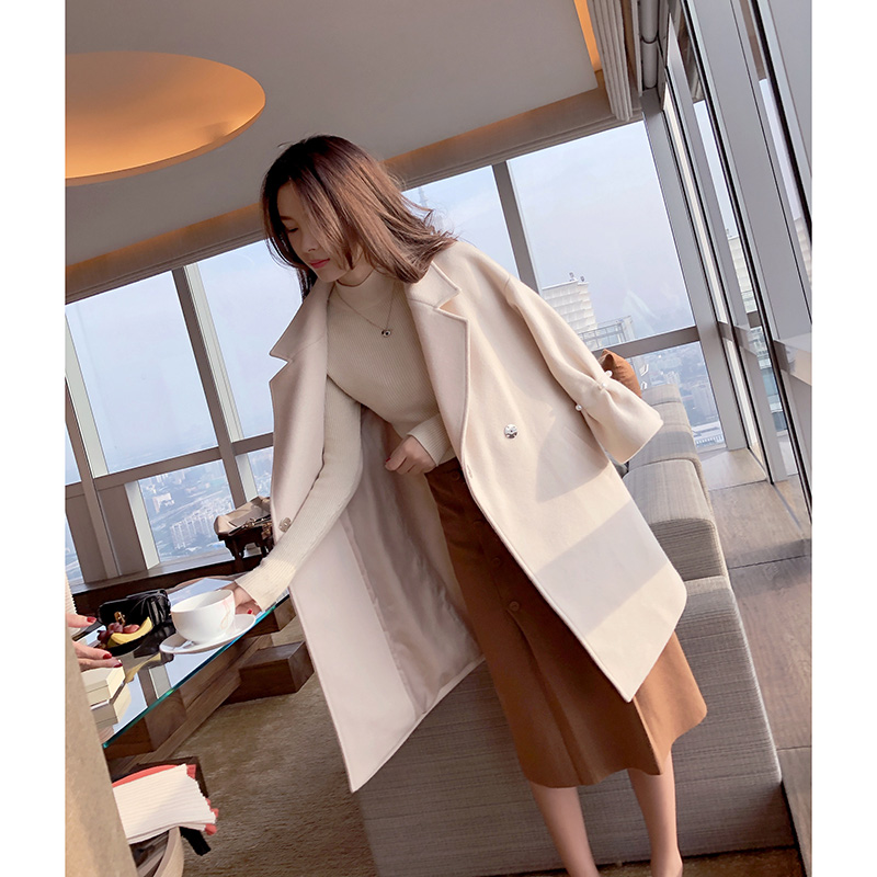 Mishow solid overcoat female new 2018 long woolen casual coat autumn winter blends MX17D9633